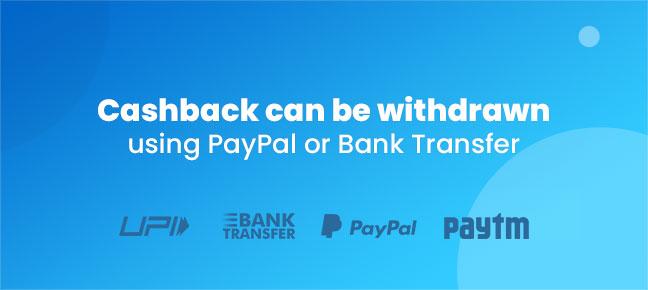 Cashback Coupon code